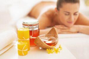 массаж мёдом